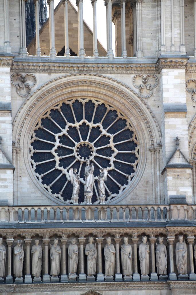 Raam kathedraal Notre Dame Parijs