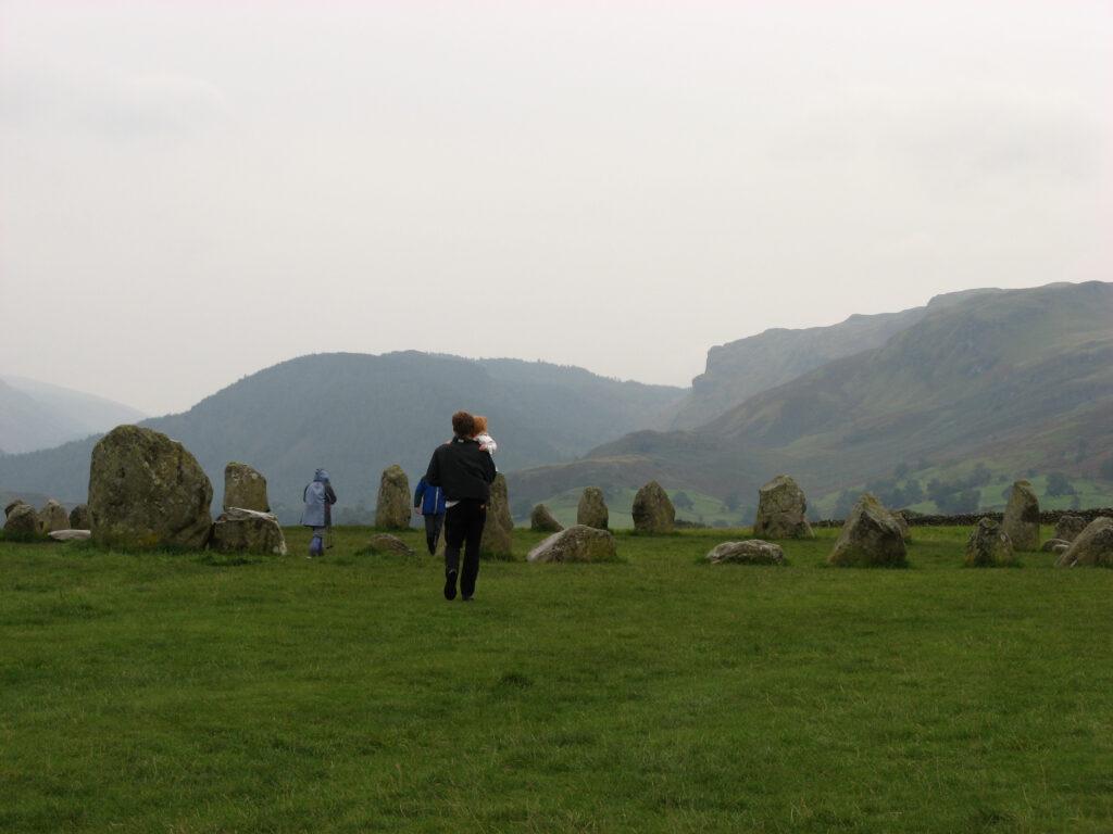 Steencirkel van Castlerigg in het Lake District.