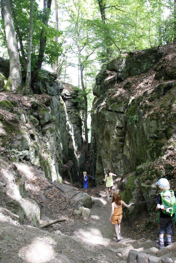 De ingang van de Teufelsschlucht, ook wel de Duivelskloof genoemd.