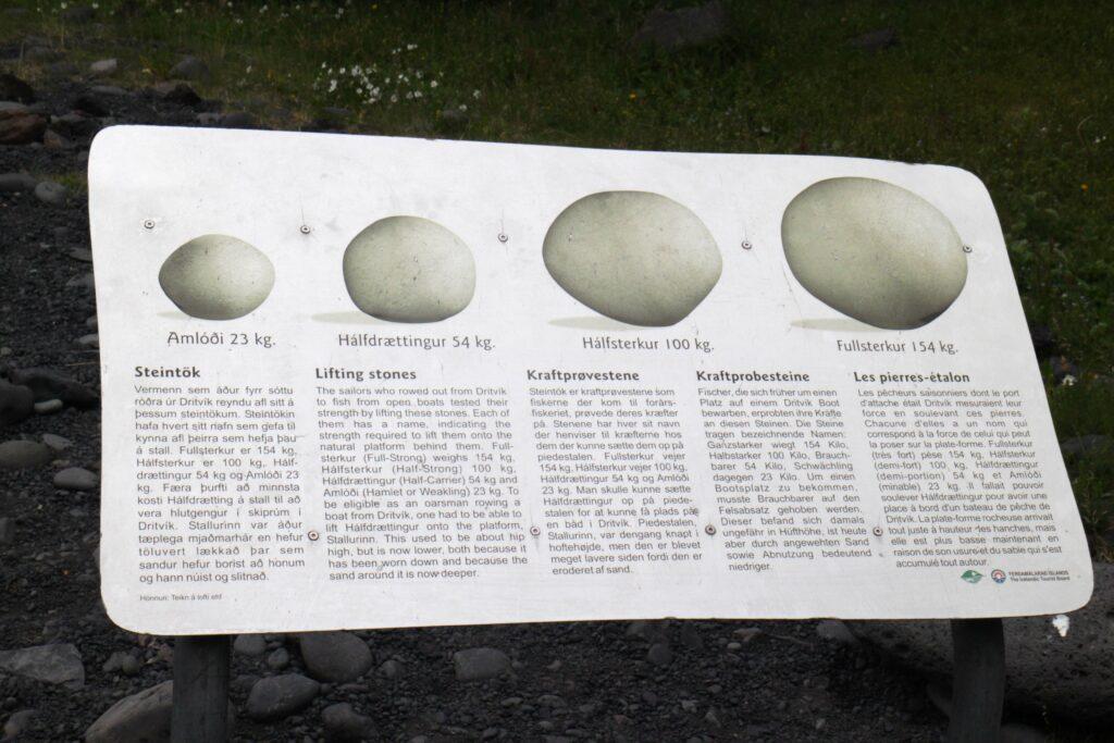 De hijsstenen van Dritvik Djúpalonssandur