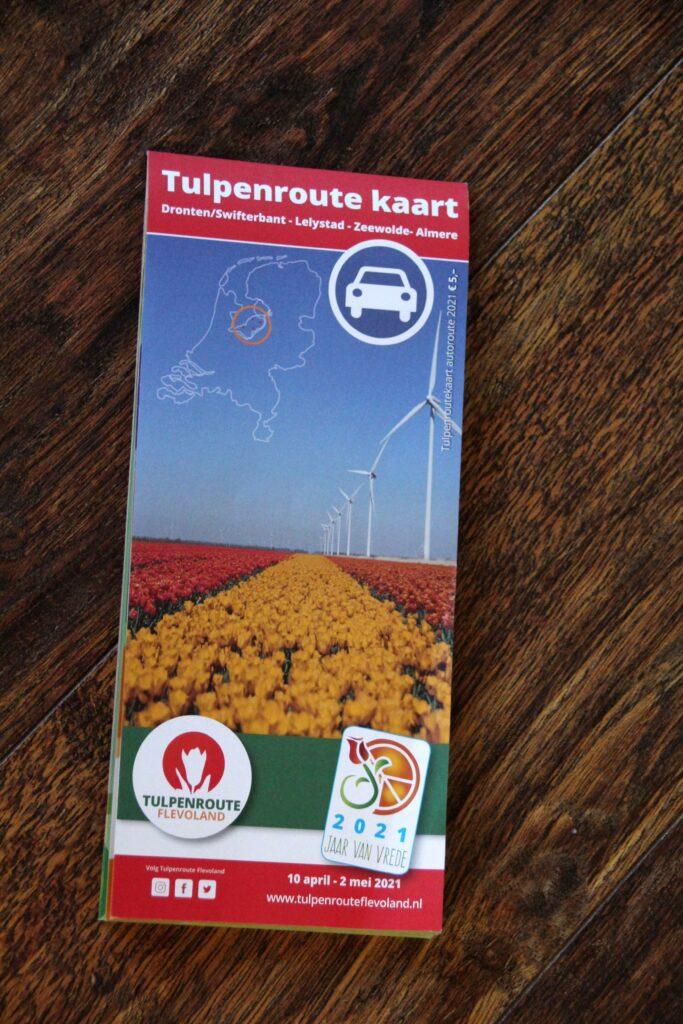 Bij het startpunt krijg je de routekaart voor de autoroute van de Tulpenroute.