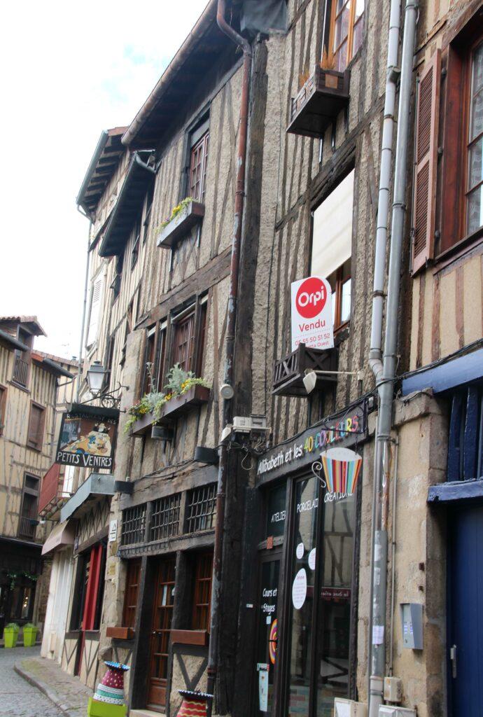het Quartier de la Boucherie in Limoges is de wijk waar vroeger de slagers woonden en werkten.