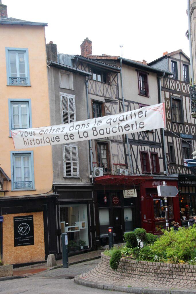 De ingang van het Slagerskwartier in Limoges