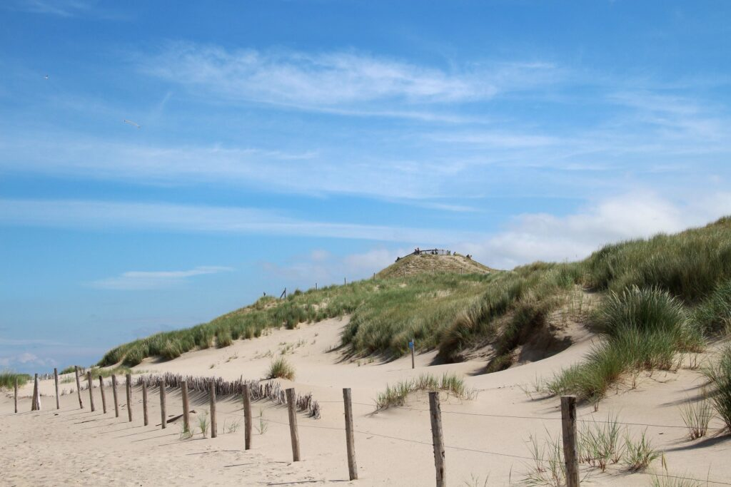 De Hondsbossche Duinen zijn door de mens aangelegd en tot 2015 was hier gewoon nog de zee.