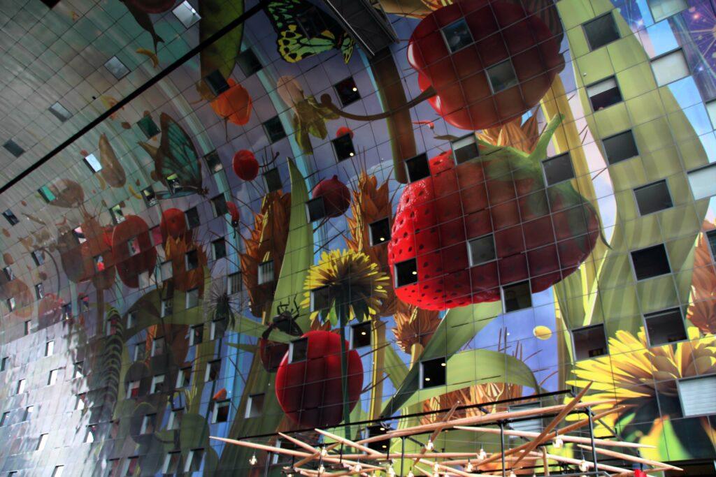 Hoorn des Overvloeds, kunstwerk Markthal Rotterdam