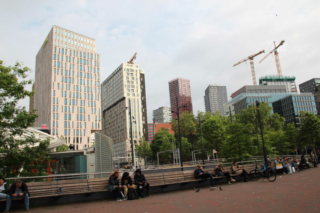 Moderne hoogbouw in Rotterdam.