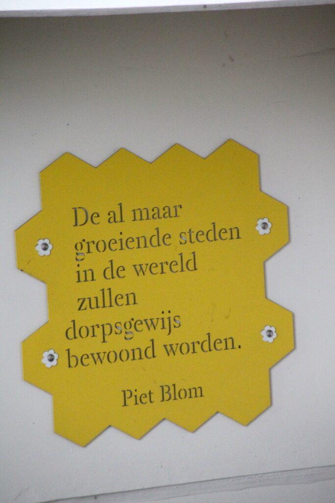 Uitspraak Piet Blom